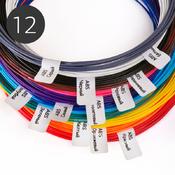 Пластик для 3D ручки, набор из 12 цветов